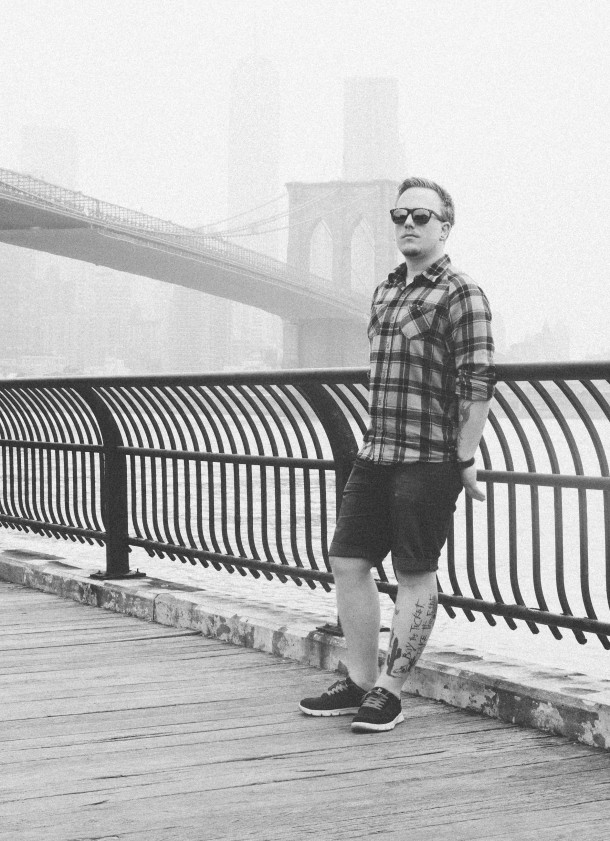 Self portait at Brooklyn Bridge