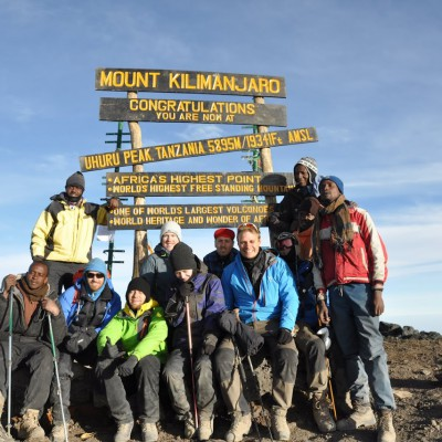 The summit of Kilimanjaro