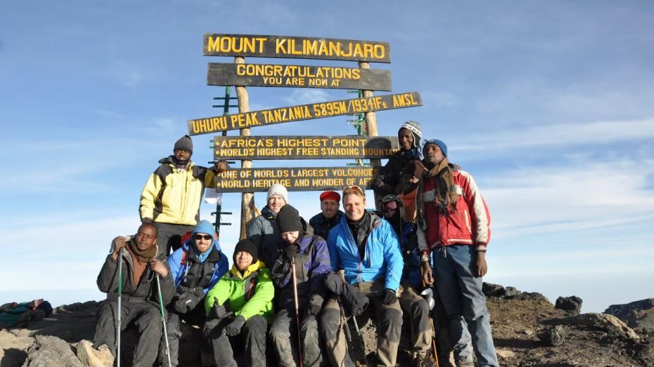 The summit of Kilimanjaro